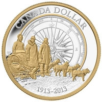 2013 Canada Gold Plated Silver Dollar in square capsule (No Tax)