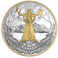 2017 Canada $1 Confederation Gold Plated Proof Silver in square capsule (No Tax)