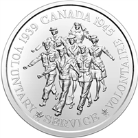 2020 Canada Volunteer Service Medallion Silver Brilliant Uncirculated (No Tax)