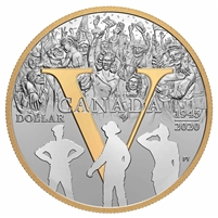 2020 Canada 75th Ann. of VE Day Gold Plated Fine Silver in Square Capsule (No Tax)