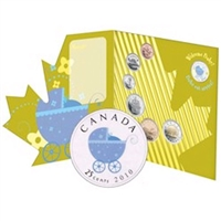 2010 Canada Baby 7-coin Gift Set with Coloured 25ct