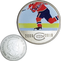 2010 Canada 50-cent Montreal Canadiens On-Ice-Action NHL Coin