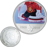 2010 Canada 50-cent Ottawa Senators On-Ice-Action NHL Coin