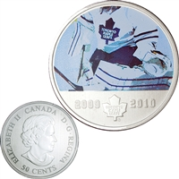 2010 Canada 50-cent Toronto Maple Leafs On-Ice-Action NHL Coin