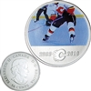 2010 Canada 50-cent Calgary Flames On-Ice-Action NHL Coin
