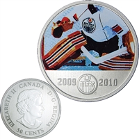 2010 Canada 50-cent Edmonton Oilers On-Ice-Action NHL Coin
