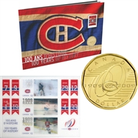 2009 Montreal Canadiens 100th Anniversary Coin and Stamp Gift Set.