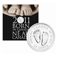 2011 Canada Baby 7-coin Gift Set with struck 25ct