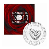 2011 Canada Wedding 7-coin Gift Set with struck 25ct.