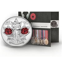 2010 Remembrance Day Collector Card with coloured Poppy 25ct