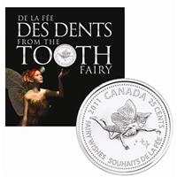 2011 Canada 25-cent Tooth Fairy Gift Card