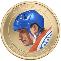 2011 Canada 25 Cent Wayne Gretzky Coloured Coin in Card
