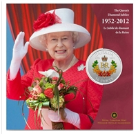 2012 Canada 50-cent Queen's Diamond Jubilee - Royal Cypher Silver Plated