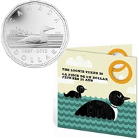 2012 Canada 25th Anniversary of the Loonie Set with Silver Plated Loon