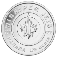 2011 Canada 50-cent Winnipeg Jets in Card