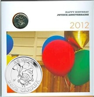 2012 Canada Birthday 6-coin Gift Set with struck 25ct.