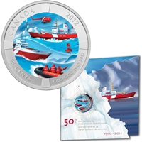 2012 Canada 25-cent 50 Years of the Canadian Coast Guard in Card
