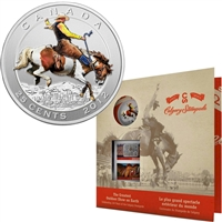 2012 Canada 25-cent 100 Years of the Calgary Stampede Coin & Stamp Set