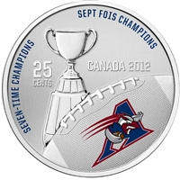 2012 Canada 25-cent Montreal Alouettes CFL - Coin and Stamp Set.
