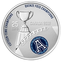 2012 Canada 25-cent Toronto Argonauts CFL - Coin and Stamp Set.
