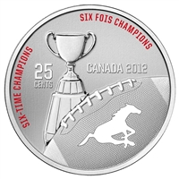 2012 Canada 25-cent Calgary Stampeders CFL - Coin and Stamp Set.