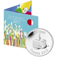 2013 Canada Birthday Gift Set with Commemorative 25-cent