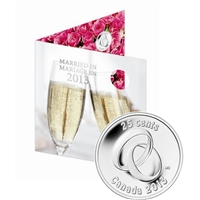 2013 Canada Wedding Gift Set with Commemorative 25-cent