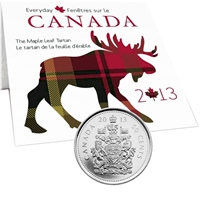 2013 Canada 50-cent The Maple Leaf Tartan with Tartan Swatch