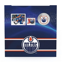 2014 Canada 25-cent Edmonton Oilers Pop-Up Jersey Coin & Stamp Set