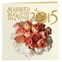 2015 Canada Wedding Gift Set with Struck Loon Dollar - 133221