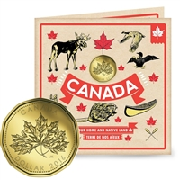 2016 Oh Canada Gift Set with struck Loon Dollar (Maple Leaves)