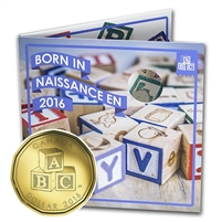 2016 Canada Baby Gift Set with struck Loon Dollar (Blocks) - 148982