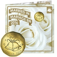 2016 Canada Wedding Gift Set with struck Loon Dollar (Wedding Bells)