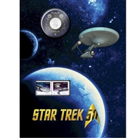2016 Canada 25-cent Star Trek Enterprise Coin & Stamp Set