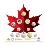2017 Canada 150 Circulation 12-Coin Keepsake Collection (157308)