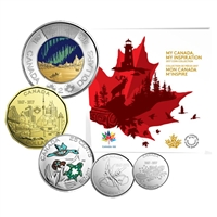 2017 5-coin My Canada, My Inspiration Collector Card