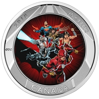 2018 Canada 25-cent Lenticular The Justice League 3D Coin with Trading Cards
