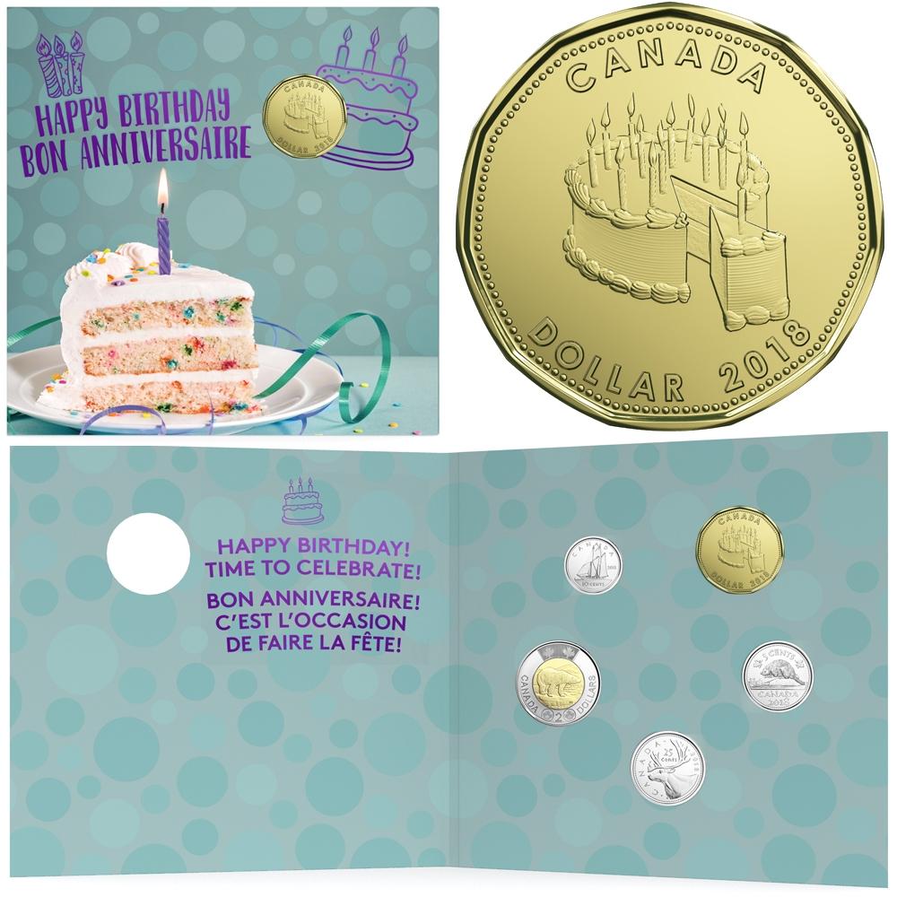 Happy Birthday Coin Gift Set 2018
