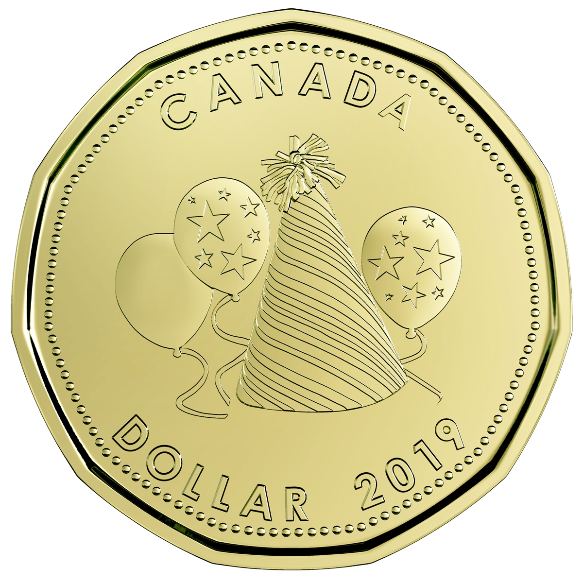 2019 Canada Birthday Gift Set With Party Hat Loon