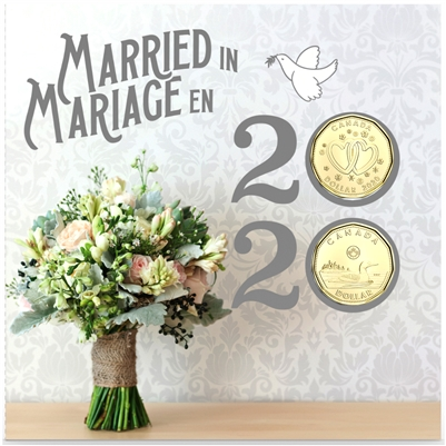 2020 Canada Wedding Coin Gift Set with Special Loon Dollar