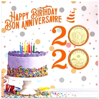 2020 Canada Birthday Gift Set with Special Loon Dollar