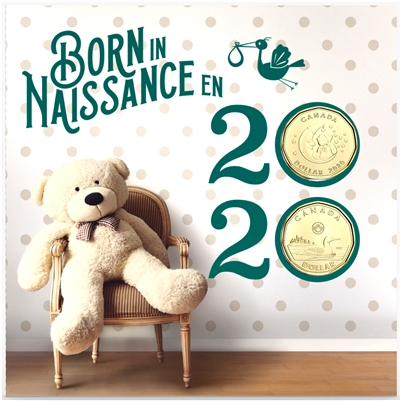 2020 Canada Baby Gift Set with Special Loon Dollar