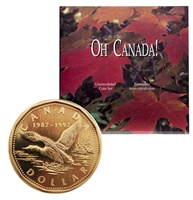 1997 Oh Canada Set with Flying Loon Dollar.