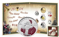 2004 Canada Holiday Gift Set with Santa Claus 25-Cents.