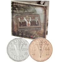 2004 Canada D-day Sterling Silver Nickel & Medallion with D-Day CD-ROM