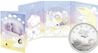 2006 Canada Baby Lullabies Loonie Sterling Silver Dollar & CD - SEALED