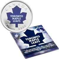 2006 Canada Toronto Maple Leafs NHL Coin Set with Colourized 25-Cents.