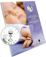 2007 Canada Baby Lullabies Loonie Silver Dollar with CD
