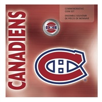 2008 Canada Montreal Canadiens NHL Coin Set with Colourized Dollar.