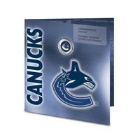 2008 Canada Vancouver Canucks NHL Coin Set with Colourized Dollar
